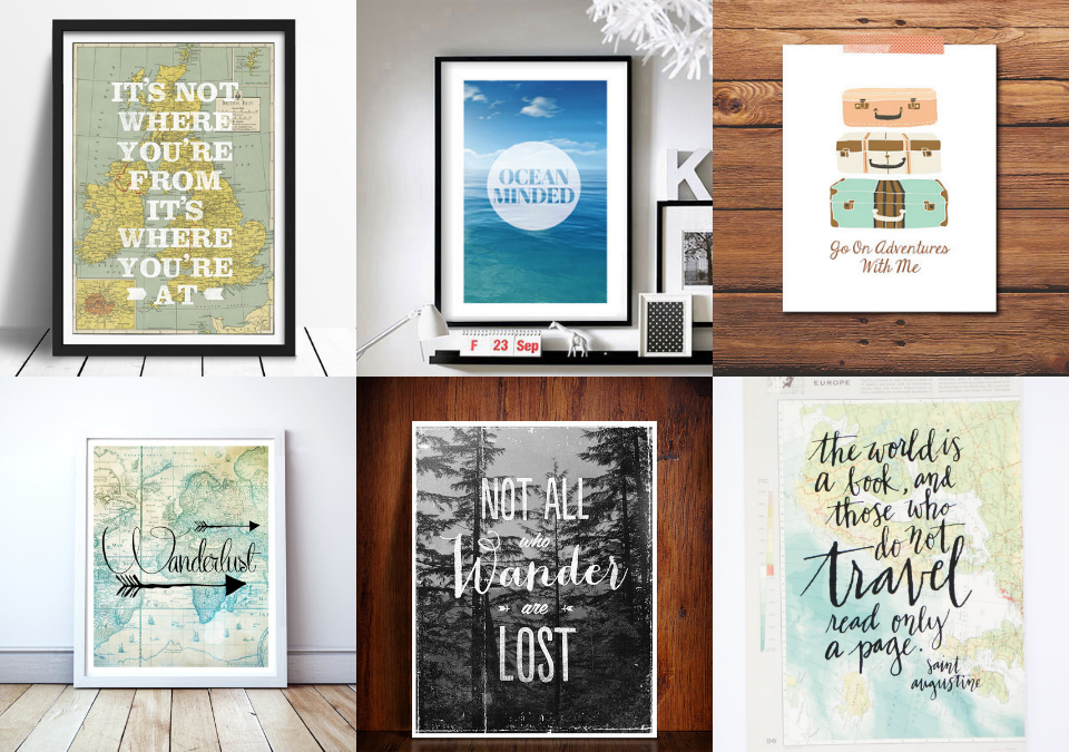 travel quote posters